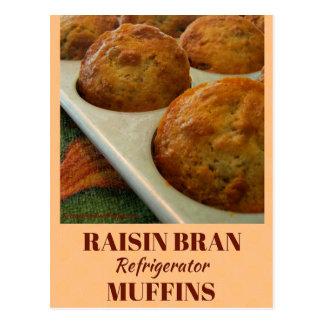 Raisin Bran Refrigerator Muffins Recipe Card