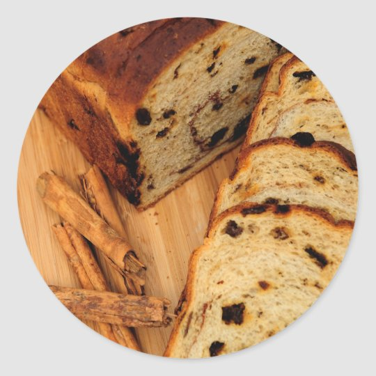 Raisin Bread And Cinnamon Classic Round Sticker