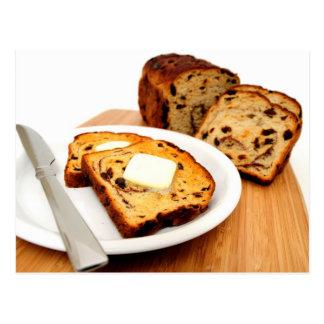 Raisin Bread And Cinnamon Postcard