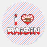 Raisin, CA Round Sticker