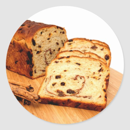 Raisin Cinnamon Bread Classic Round Sticker