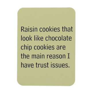 RAISIN COOKIES THAT LOOK LIKE CHOCOLATE CHIPS ARE FLEXIBLE MAGNETS