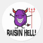 Raisin Hell Classic Round Sticker