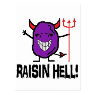 Raisin Hell Post Card