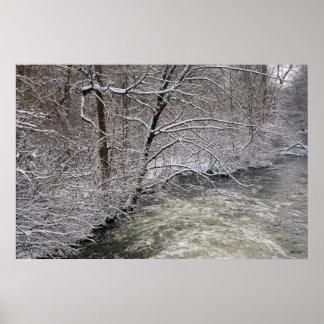 Raisin river in the snow poster