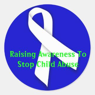 Raising Awareness To Stop Child Abuse Classic Round Sticker