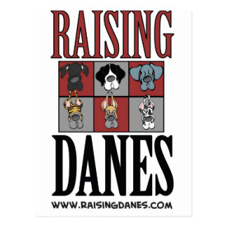 Raising Danes Logo The Color Chart Postcard