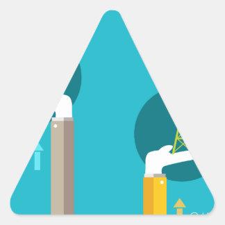 Raising Fuel Support Triangle Sticker