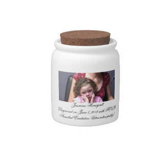 Raising Funds for Jas Candy Jar with Lid