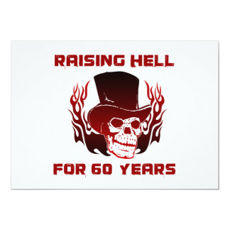 Raising Hell For 60 Years 5x7 Paper Invitation Card