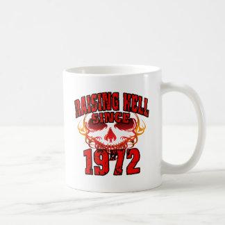 Raising Hell since 1972.png Classic White Coffee Mug