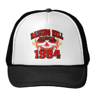 Raising Hell since 1984.png Mesh Hats