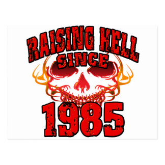 Raising Hell since 1985.png Postcard
