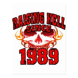 Raising Hell since 1989.png Postcard
