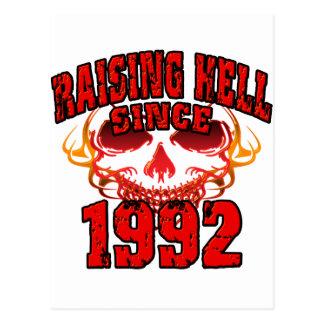 Raising Hell since 1992.png Postcard