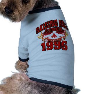Raising Hell since 1996.png Dog Tshirt