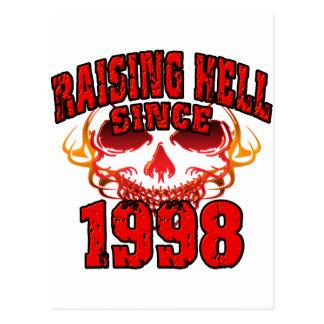 Raising Hell since 1998.png Postcard