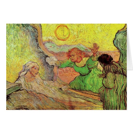 Raising of Lazarus after Rembrandt by van Gogh Card