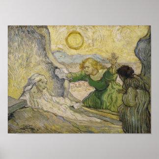 Raising of Lazarus (after Rembrandt) Van Gogh Fine Poster