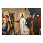 Raising of Lazarus painting by Carl Bloch Place Mat