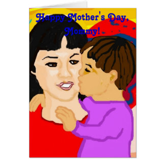 Raising Son Mother's Day Card