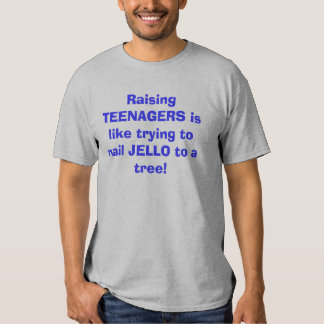 Raising TEENAGERS is like trying to nail JELLO ... Tshirt