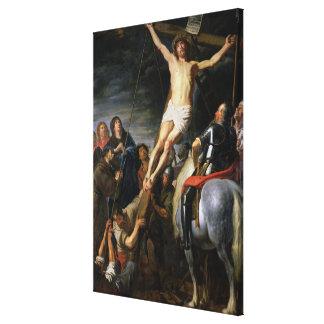 Raising the Cross, 1631-37 Canvas Print