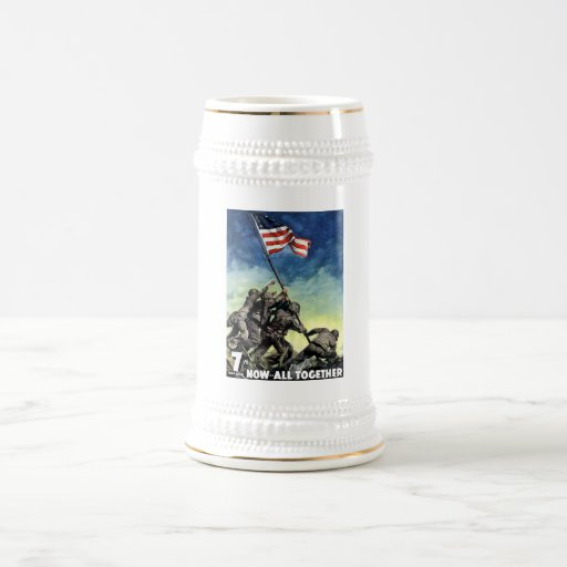 Raising The Flag On Iwo Jima Mugs