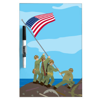 Raising the Flag on Iwo Jima (Simple History) Dry-Erase Board