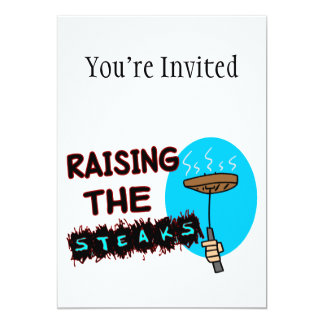 Raising The Steaks Card