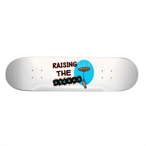 Raising The Steaks Custom Skate Board