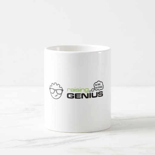 RaisingGenius Classic White Coffee Mug
