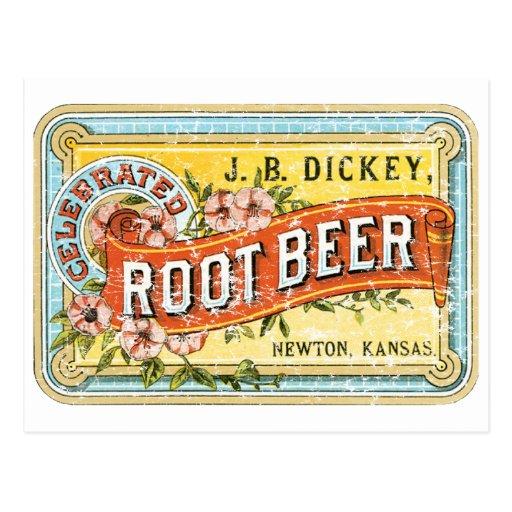 Raíz Beer-1899 del peto - apenada Tarjeta Postal