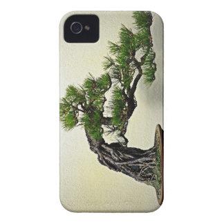 Raíz sobre árbol de los bonsais del pino de la funda para iPhone 4 de Case-Mate