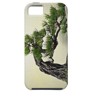 Raíz sobre árbol de los bonsais del pino de la funda para iPhone SE/5/5s