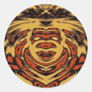 Raja Face Classic Round Sticker