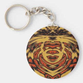 Raja Face Basic Round Button Keychain