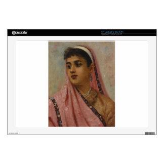 Raja_Ravi_Varma, _The_Parsee_Lady Calcomanías Para 43,2cm Portátiles