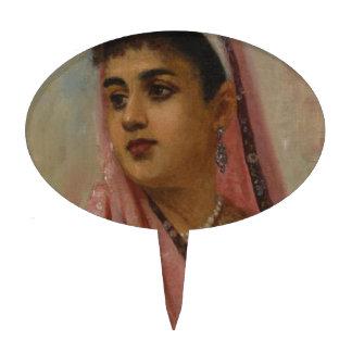 Raja_Ravi_Varma, _The_Parsee_Lady Figuras De Tarta