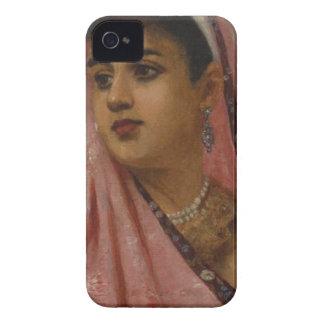 Raja_Ravi_Varma, _The_Parsee_Lady iPhone 4 Carcasas