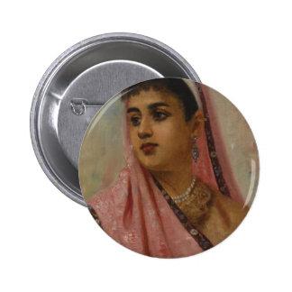 Raja_Ravi_Varma, _The_Parsee_Lady Pin Redondo De 2 Pulgadas