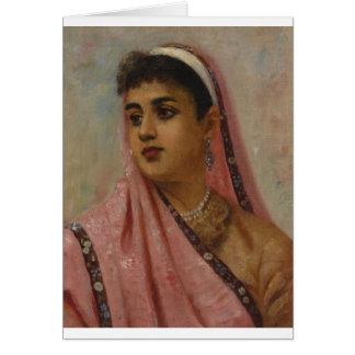 Raja_Ravi_Varma, _The_Parsee_Lady Tarjeta De Felicitación