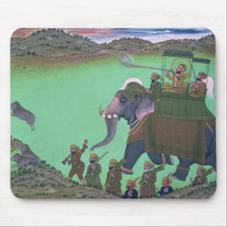 Raja Sarup Singh  of Udaipur, on a boar hunt Mouse Pad