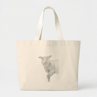 ¡Rajado fresco del dibujo de bosquejo de las oveja Bolsa De Mano