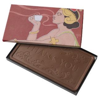 Rajah, anuncio belga famoso del café del nouveau barra de chocolate con leche grande