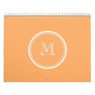 Rajah High End Colored Monogram Initial Calendar