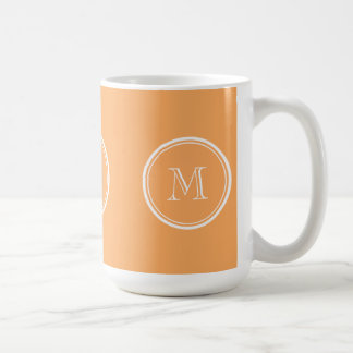Rajah High End Colored Monogram Initial Coffee Mug