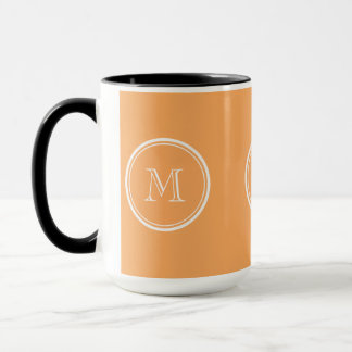 Rajah High End Colored Monogram Initial Mug