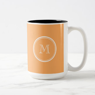 Rajah High End Colored Monogram Initial Two-Tone Coffee Mug