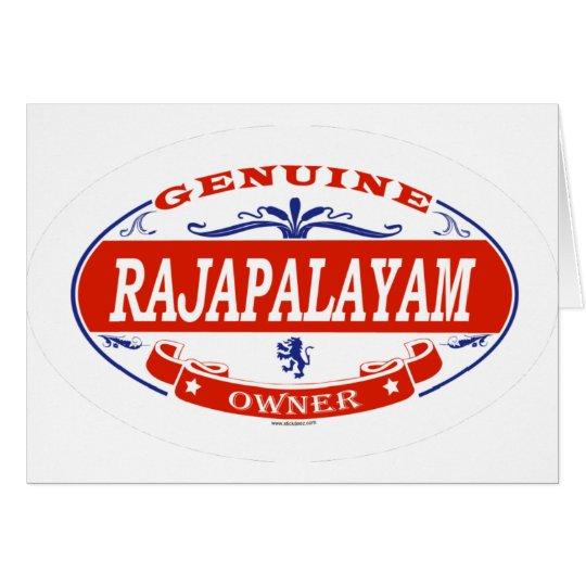 RAJAPALAYAM_ CARD